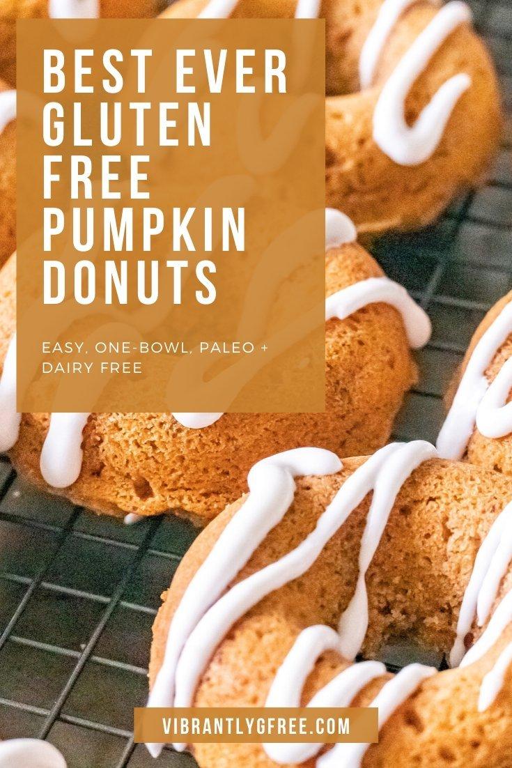 Best Ever Gluten Free Pumpkin Donuts
